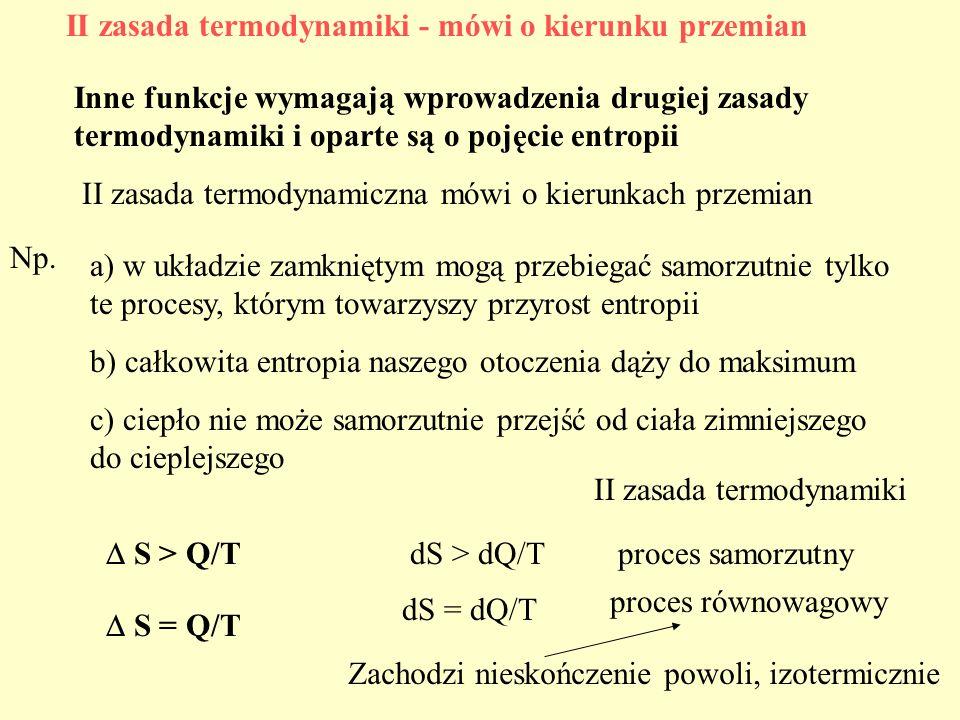 II zasada termodynamiki - mówi o kierunku przemian