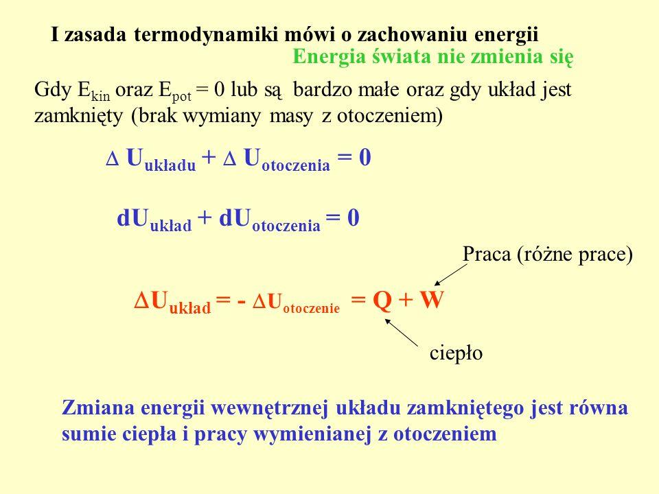 dUukład + dUotoczenia = 0