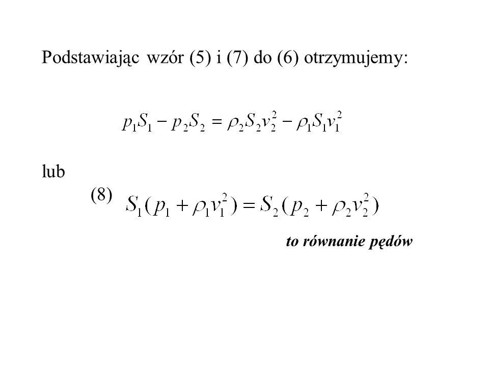 Podstawiając wzór (5) i (7) do (6) otrzymujemy: lub. (8)
