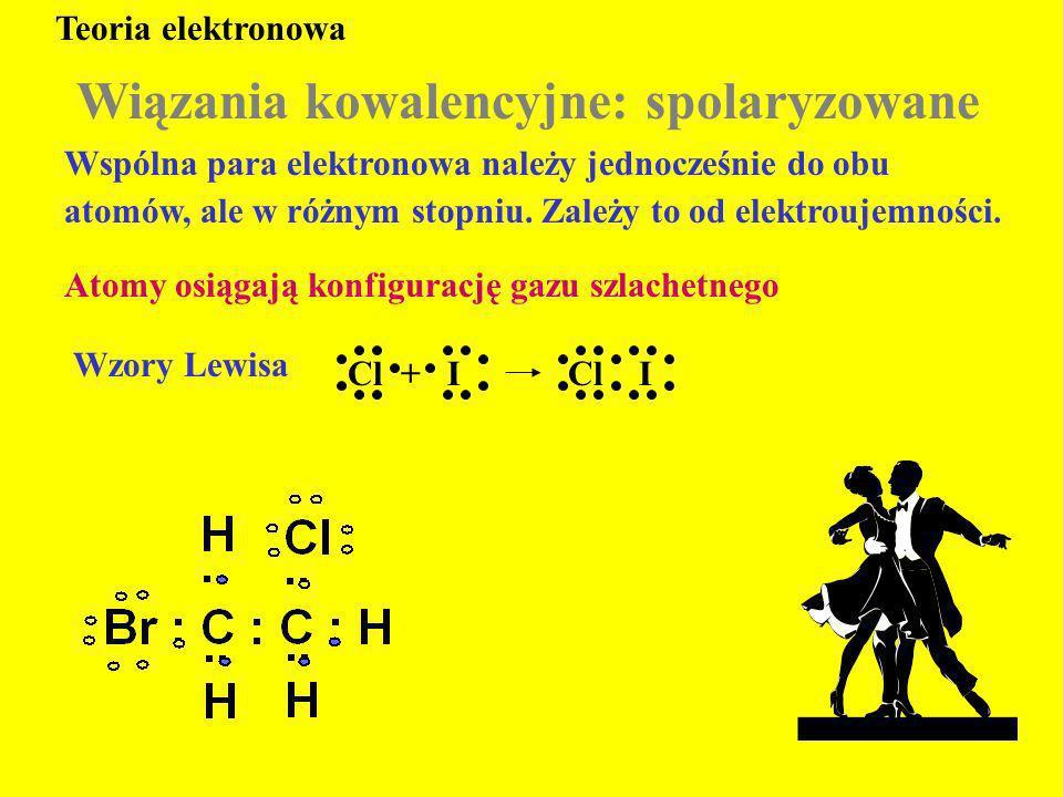 Wiązania kowalencyjne: spolaryzowane