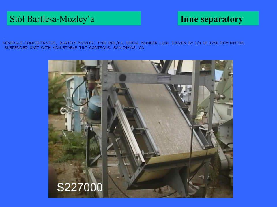 Stół Bartlesa-Mozley'a Inne separatory