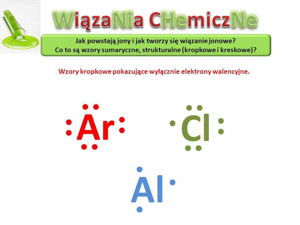 Ar Cl Al WiązaNia CHemiczNe