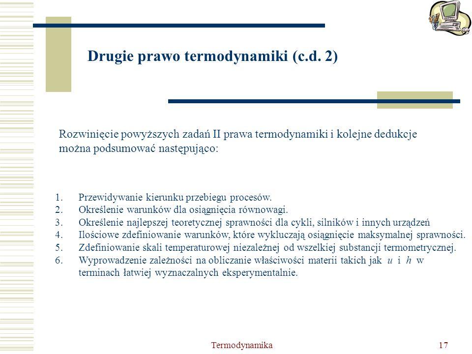 Drugie prawo termodynamiki (c.d. 2)
