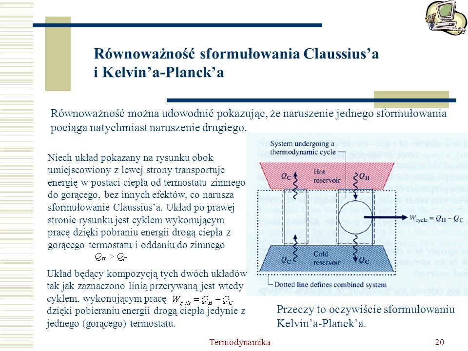 Równoważność sformułowania Claussius'a i Kelvin'a-Planck'a