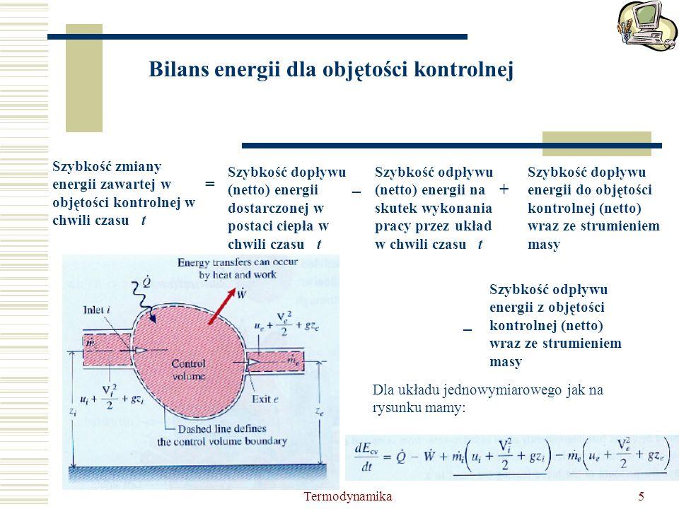 Bilans energii dla objętości kontrolnej