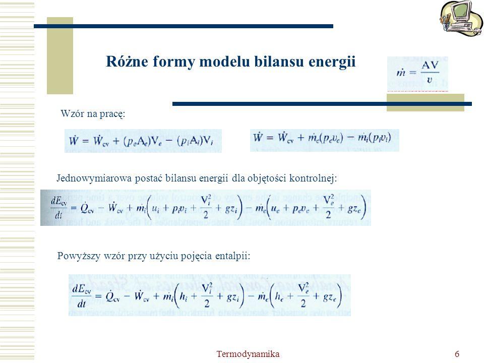 Różne formy modelu bilansu energii