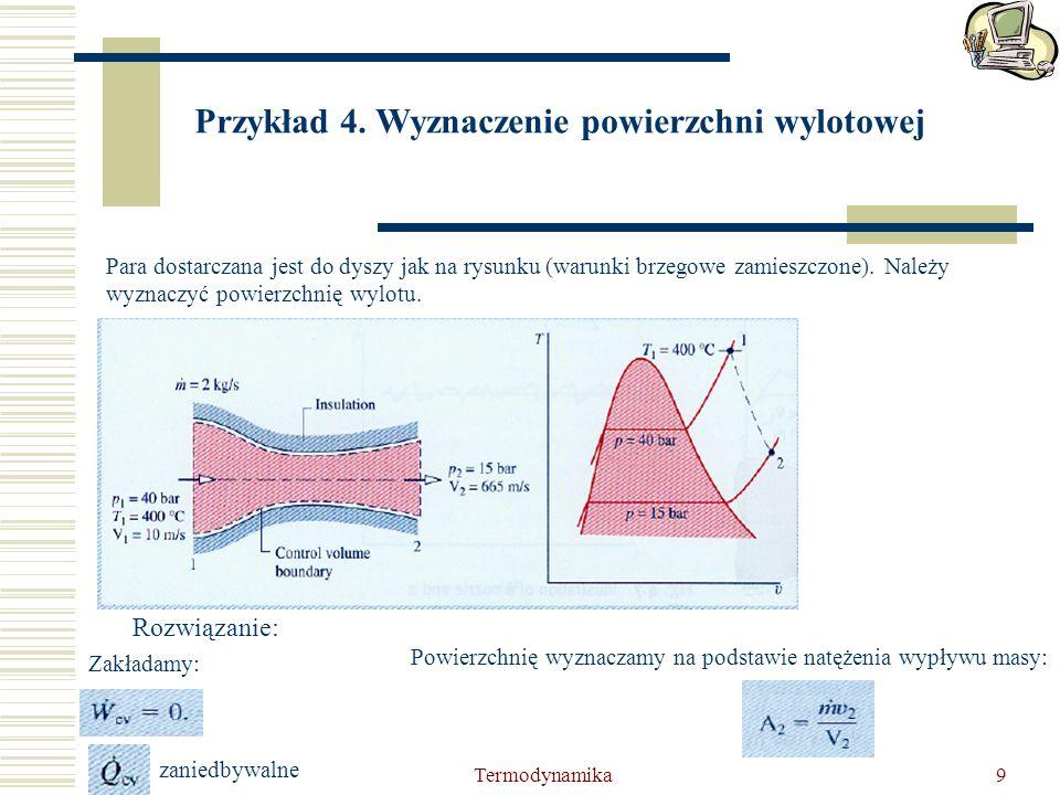 Przykład 4. Wyznaczenie powierzchni wylotowej