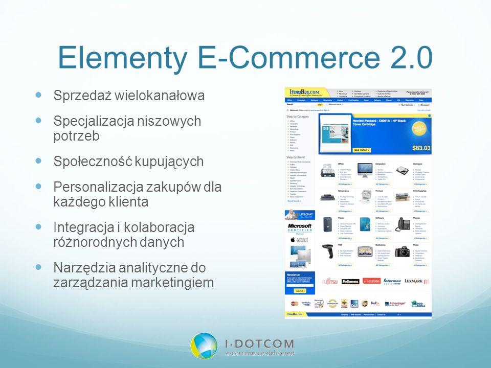 Elementy E-Commerce 2.0 Sprzedaż wielokanałowa