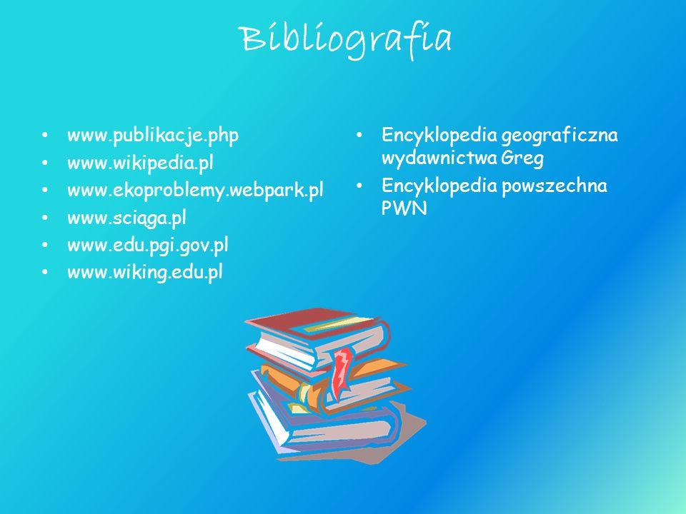 Bibliografia www.publikacje.php www.wikipedia.pl