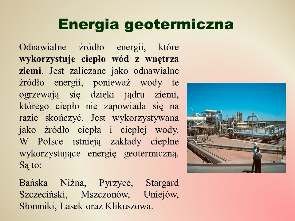 Energia geotermiczna
