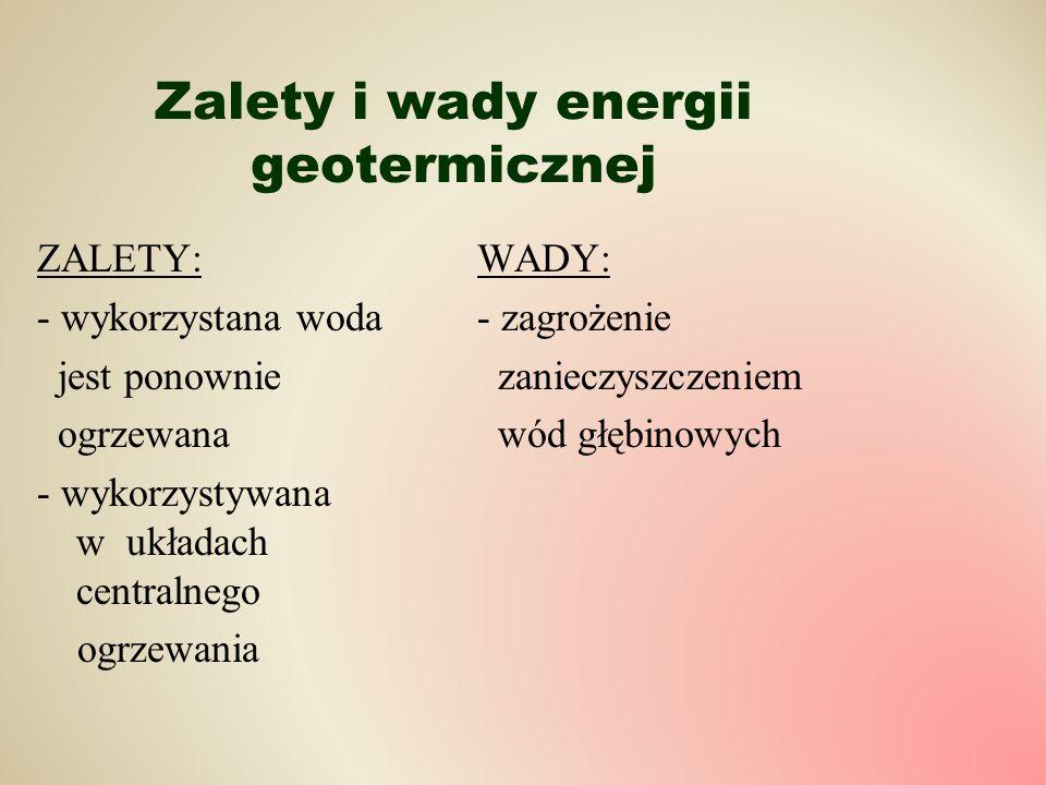 Zalety i wady energii geotermicznej