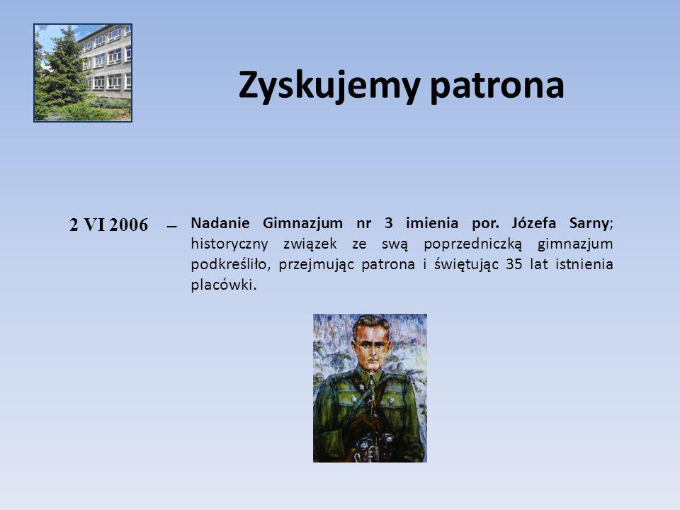 Zyskujemy patrona 2 VI 2006. –