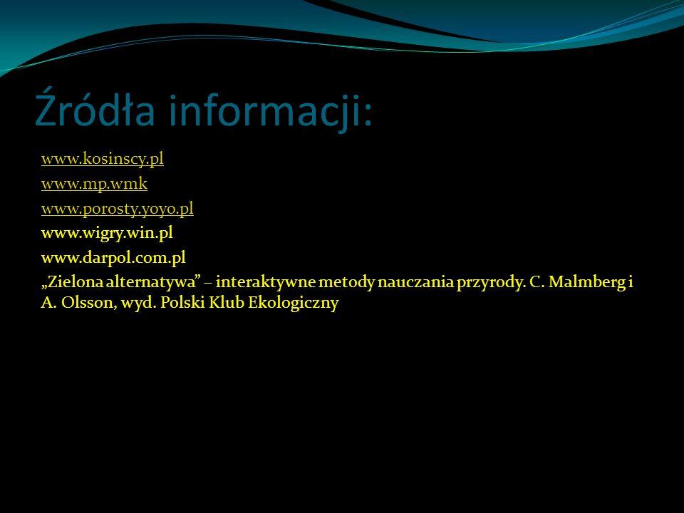 Źródła informacji: