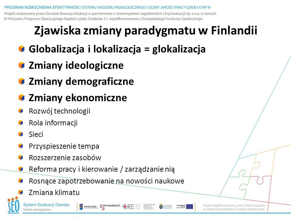 Zjawiska zmiany paradygmatu w Finlandii