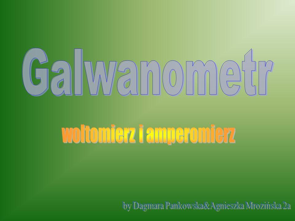 Galwanometr woltomierz i amperomierz