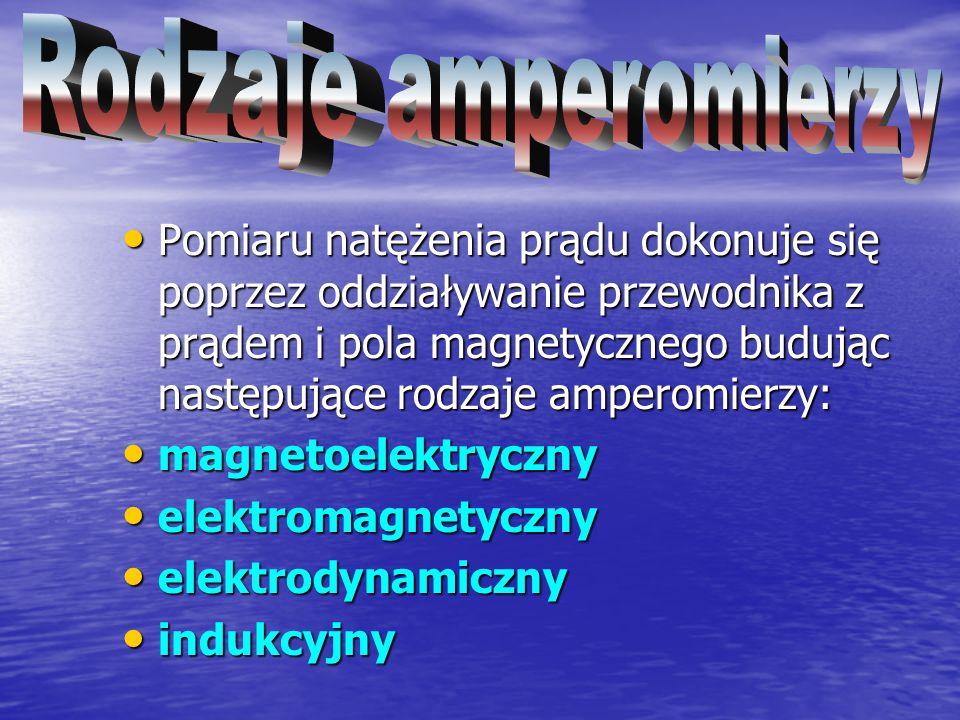 Rodzaje amperomierzy