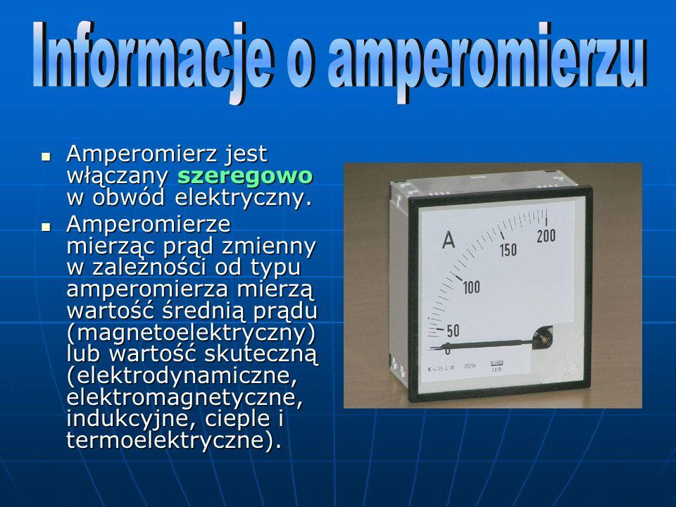 Informacje o amperomierzu