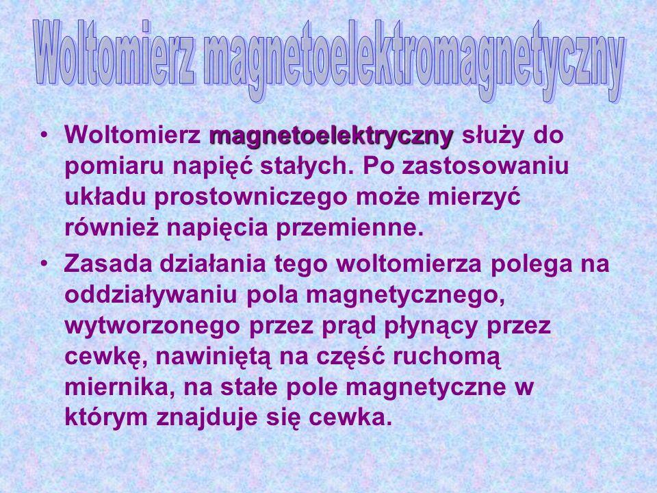 Woltomierz magnetoelektromagnetyczny