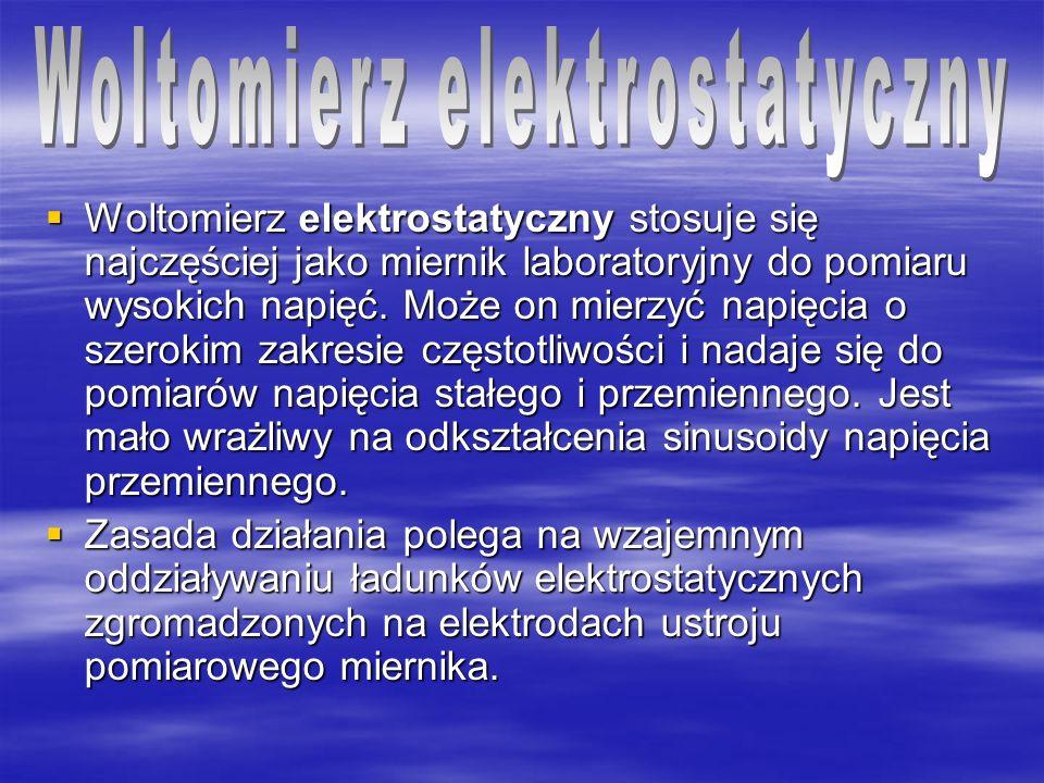 Woltomierz elektrostatyczny