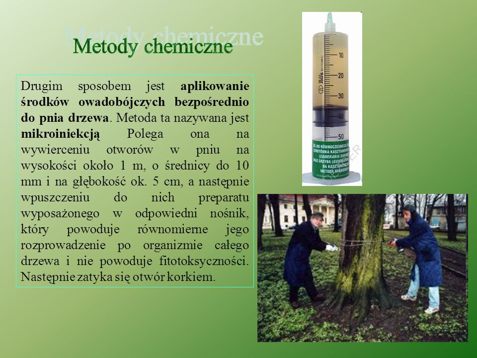 Metody chemiczne