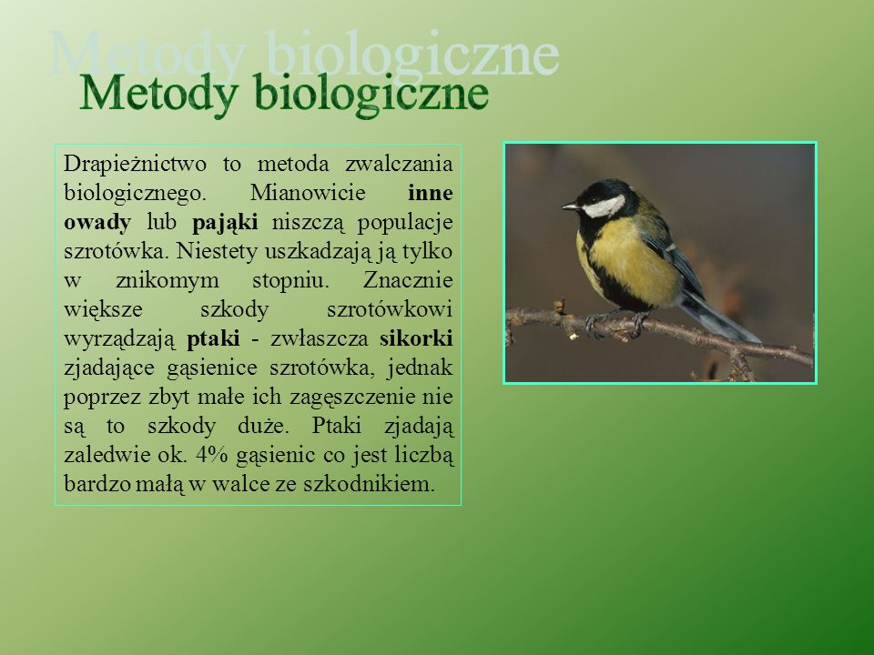 Metody biologiczne
