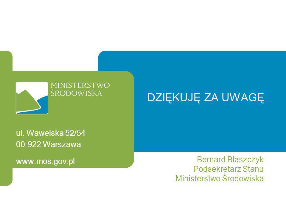 Dziękuję za uwagę ul. Wawelska 52/54 00-922 Warszawa Bernard Błaszczyk