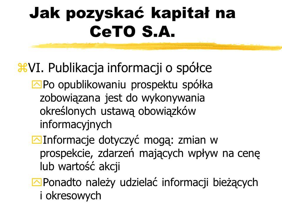 Jak pozyskać kapitał na CeTO S.A.