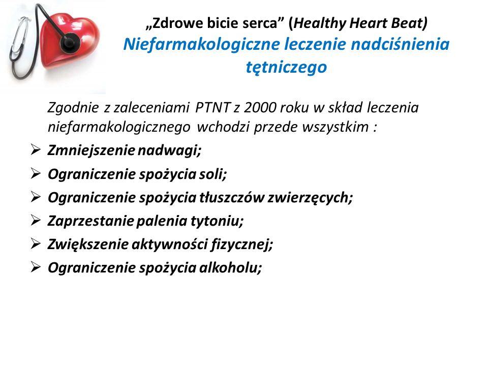 """""""Zdrowe bicie serca (Healthy Heart Beat) Niefarmakologiczne leczenie nadciśnienia tętniczego"""