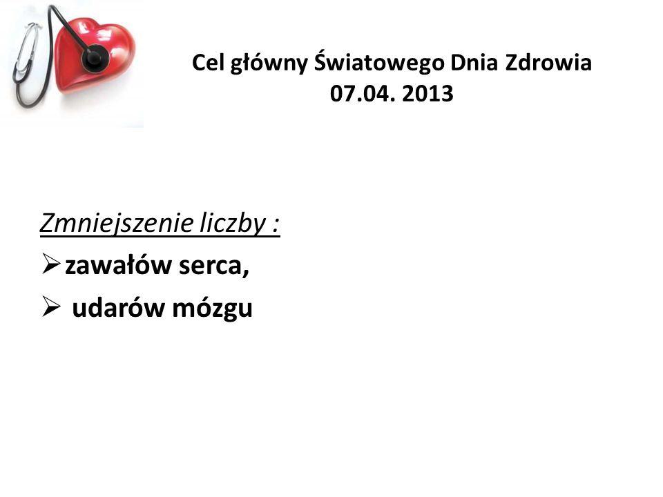 Cel główny Światowego Dnia Zdrowia 07.04. 2013