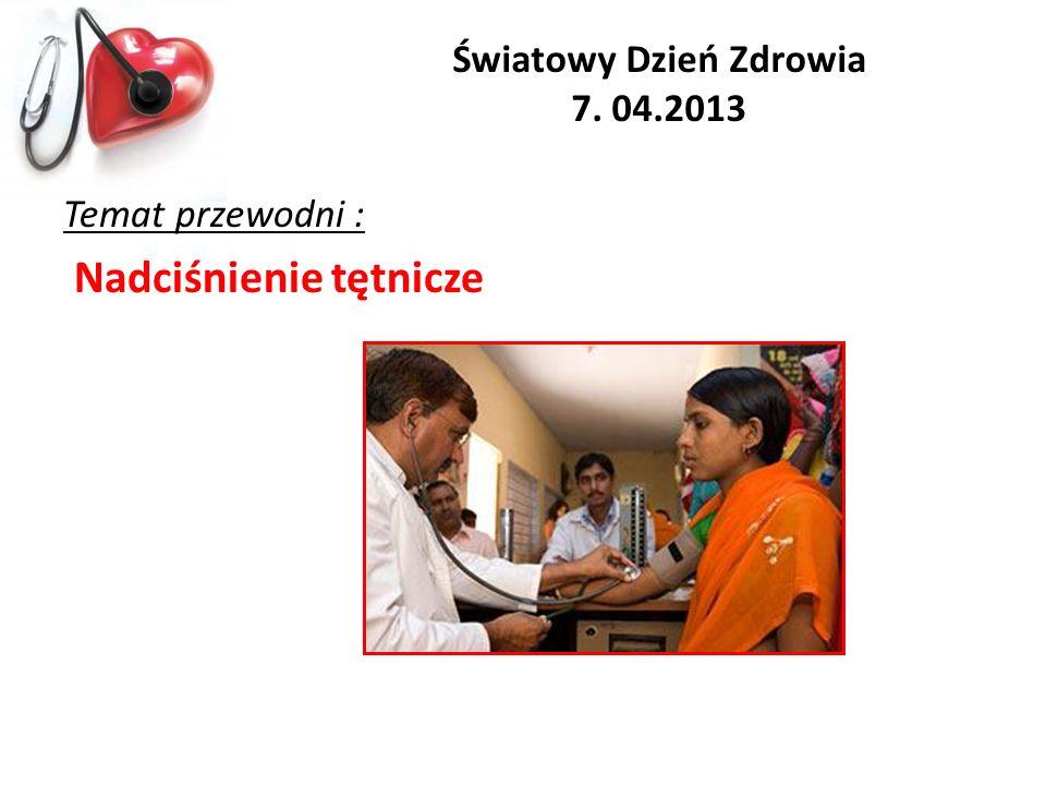 Światowy Dzień Zdrowia 7. 04.2013