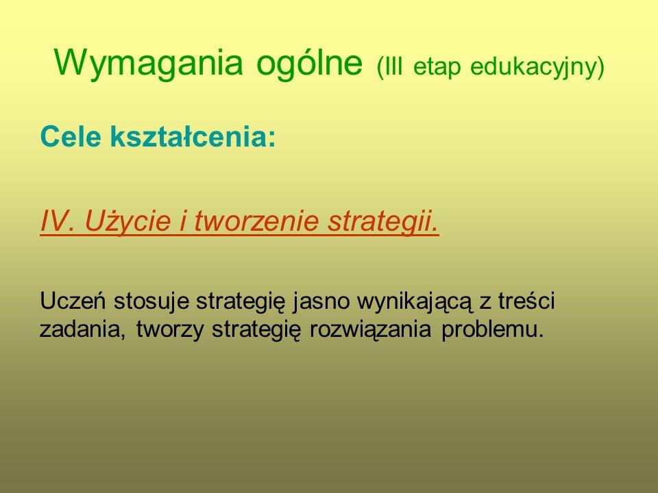 Wymagania ogólne (III etap edukacyjny)