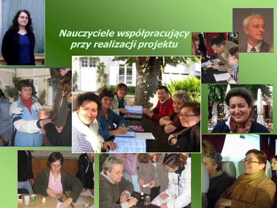 Nauczyciele współpracujący przy realizacji projektu