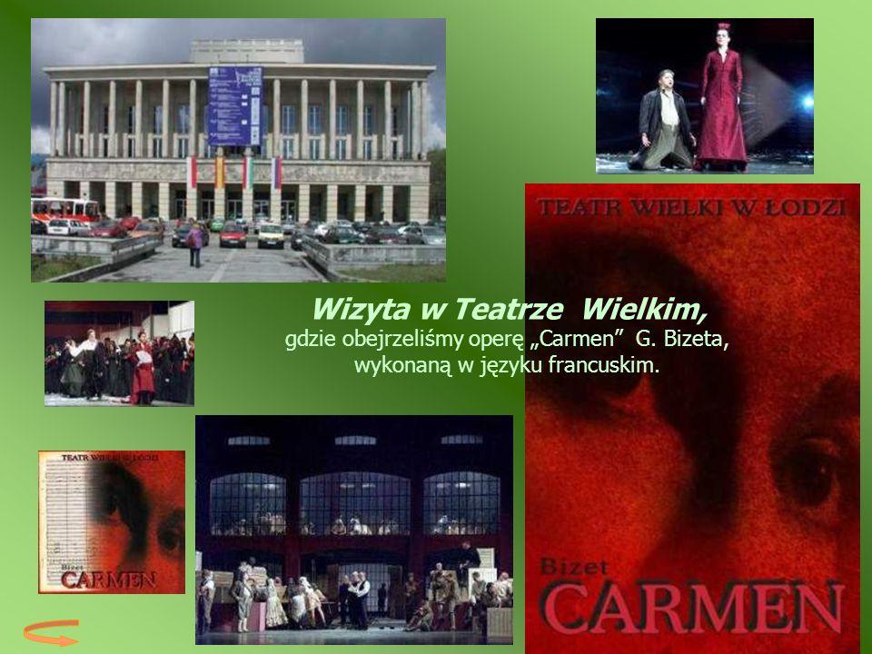 """Wizyta w Teatrze Wielkim, gdzie obejrzeliśmy operę """"Carmen G"""