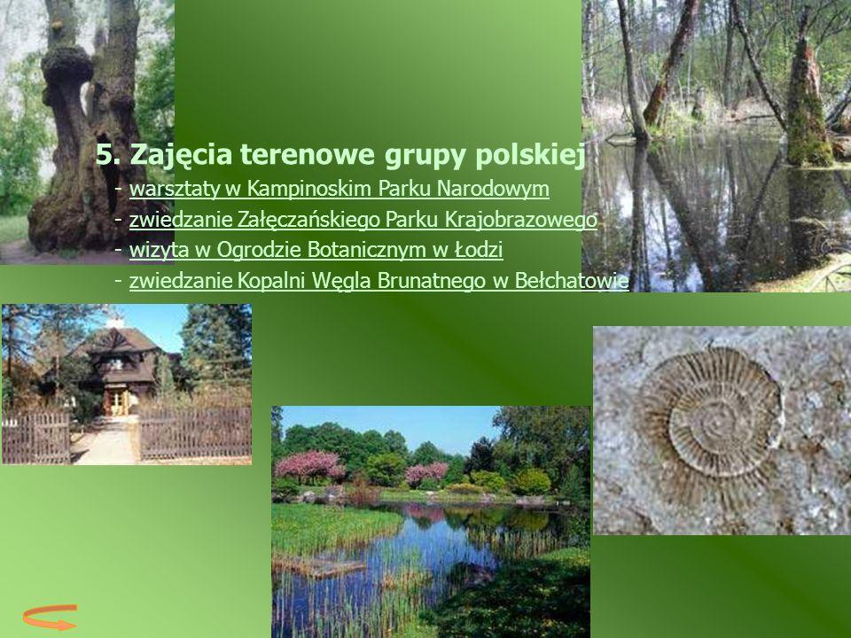 5. Zajęcia terenowe grupy polskiej