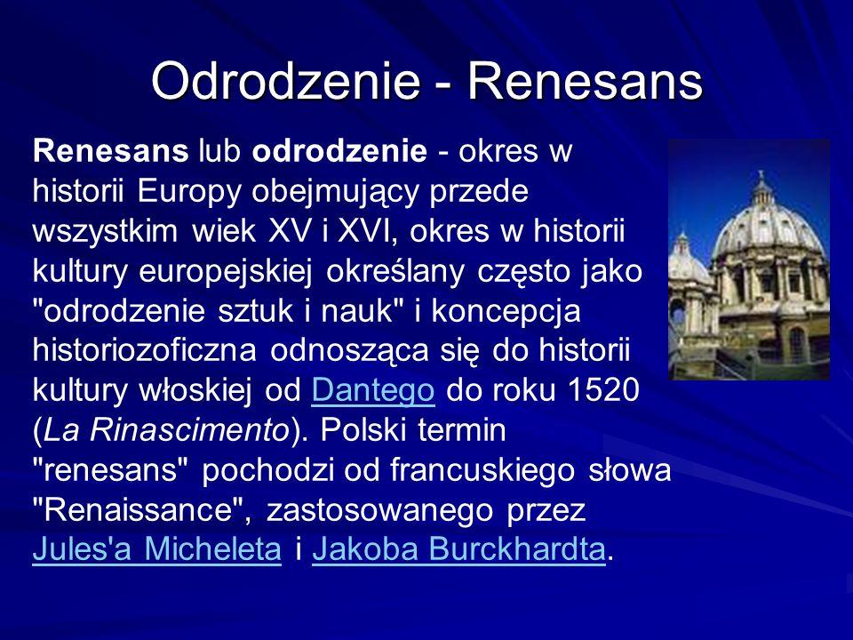 Odrodzenie - Renesans