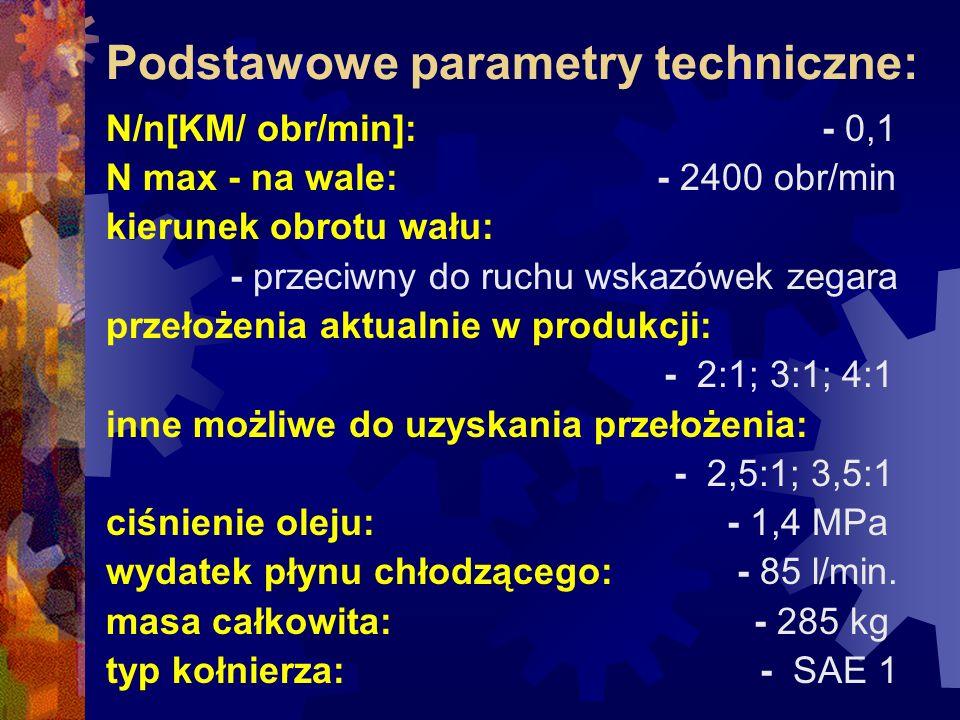 Podstawowe parametry techniczne: