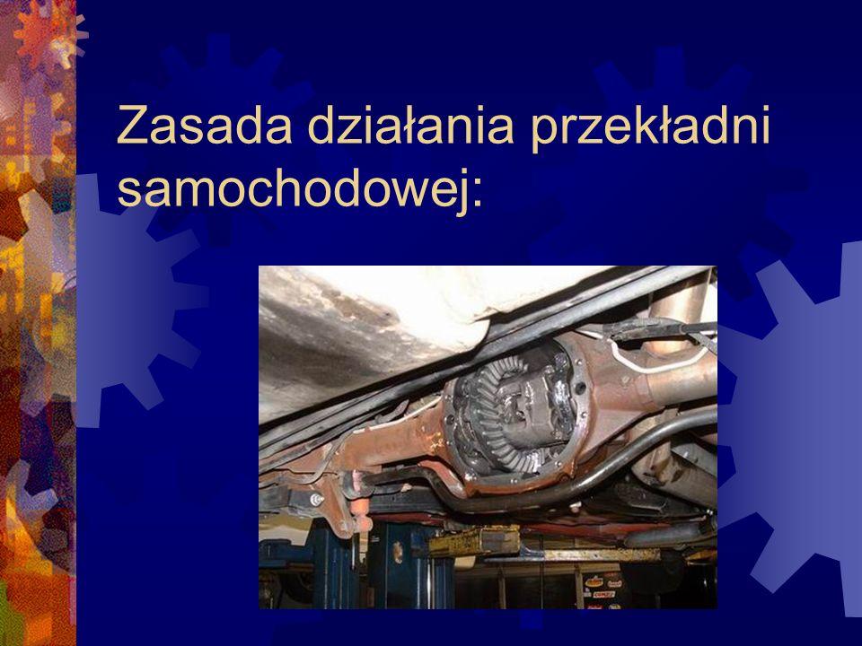 Zasada działania przekładni samochodowej: