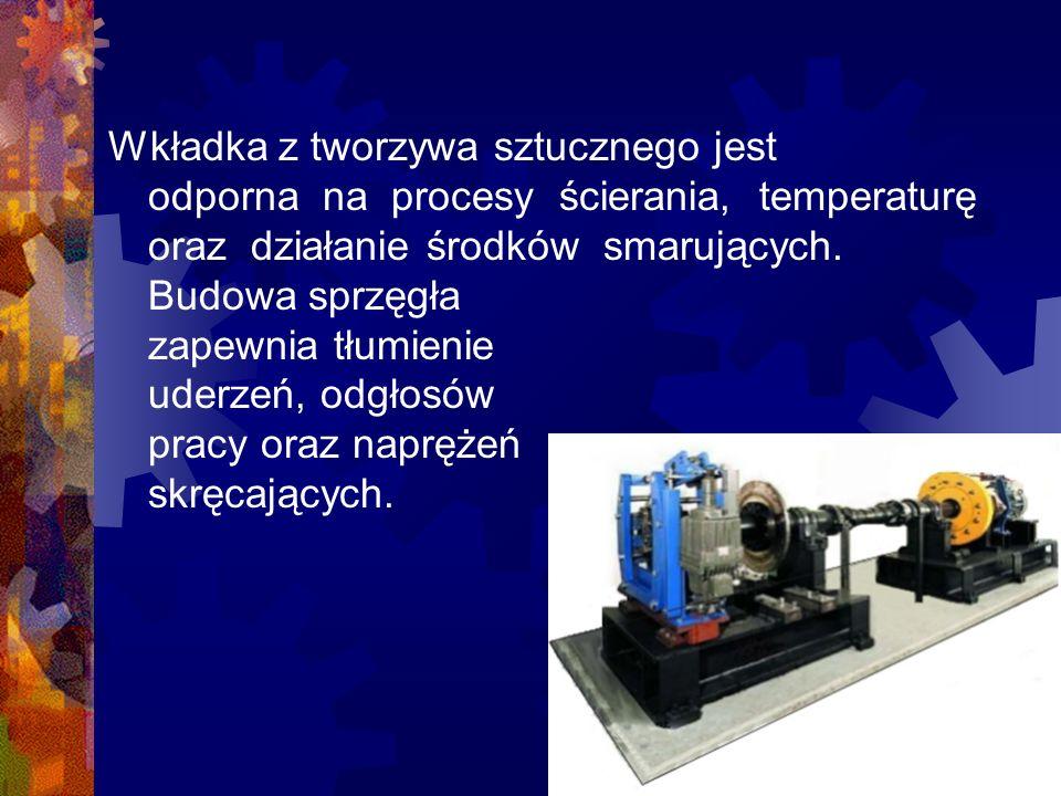 Wkładka z tworzywa sztucznego jest odporna na procesy ścierania, temperaturęoraz działanie środków smarujących.