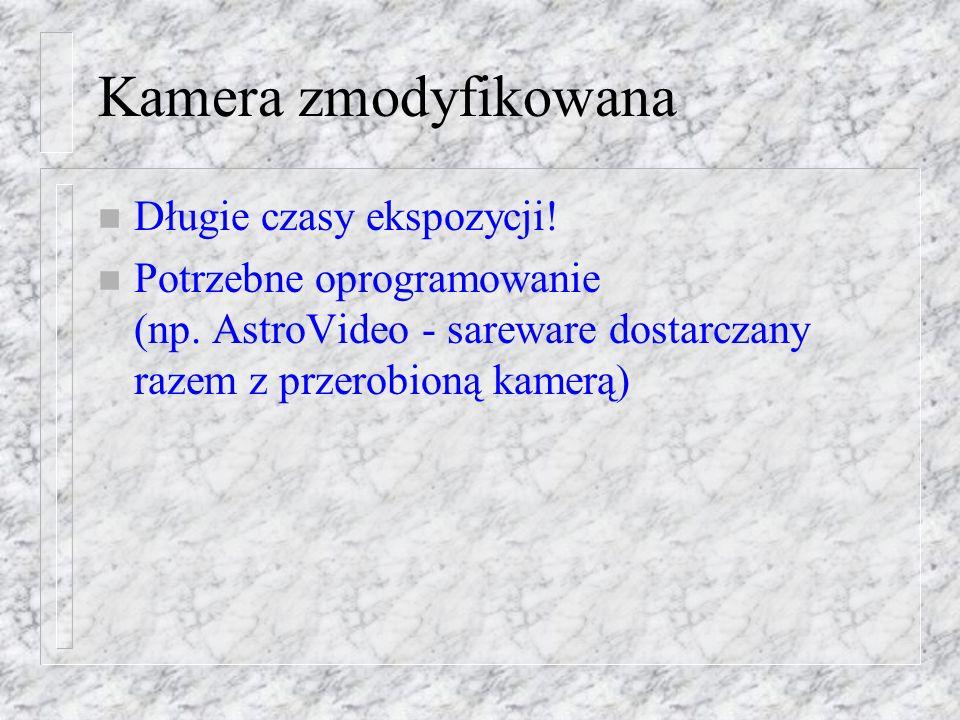 Kamera zmodyfikowana Długie czasy ekspozycji!