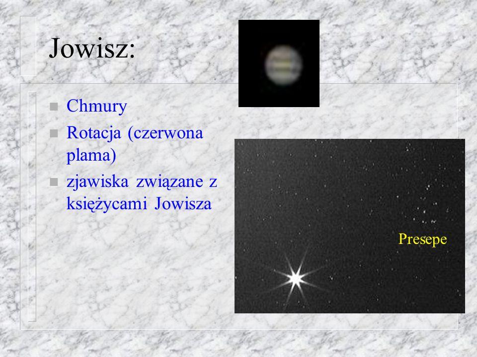 Jowisz: Chmury Rotacja (czerwona plama)