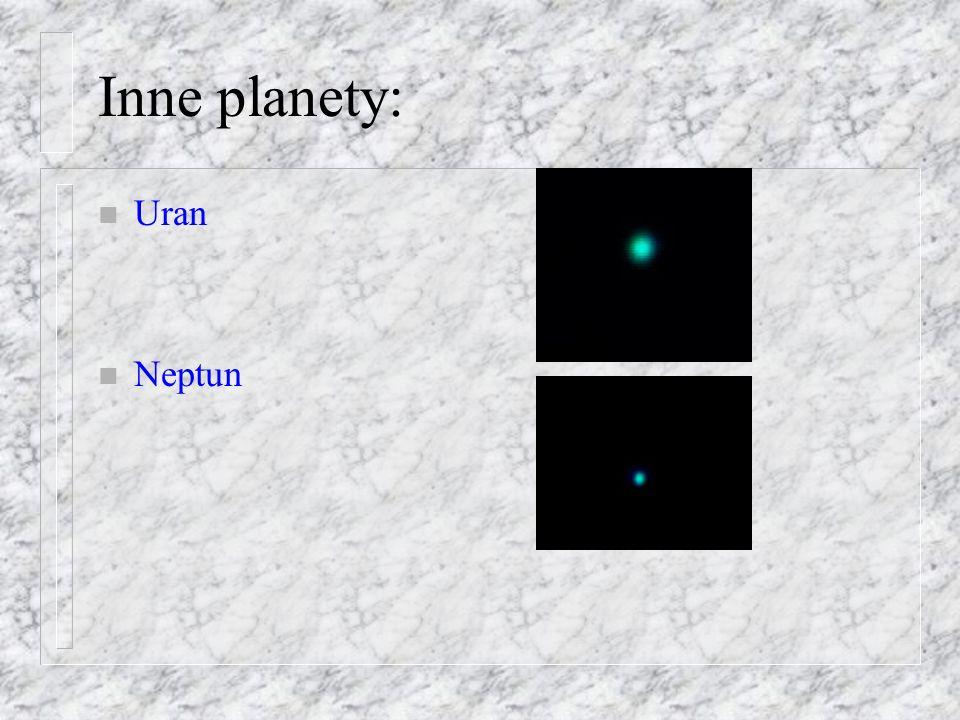 Inne planety: Uran Neptun