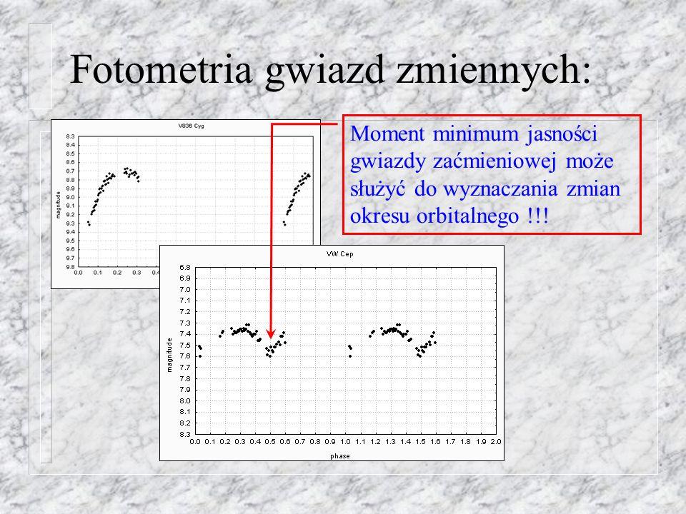 Fotometria gwiazd zmiennych:
