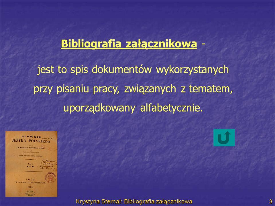 Bibliografia załącznikowa -