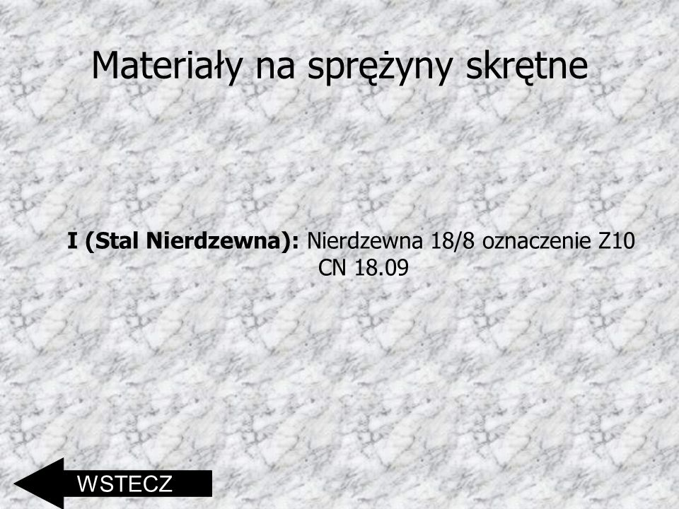 Materiały na sprężyny skrętne