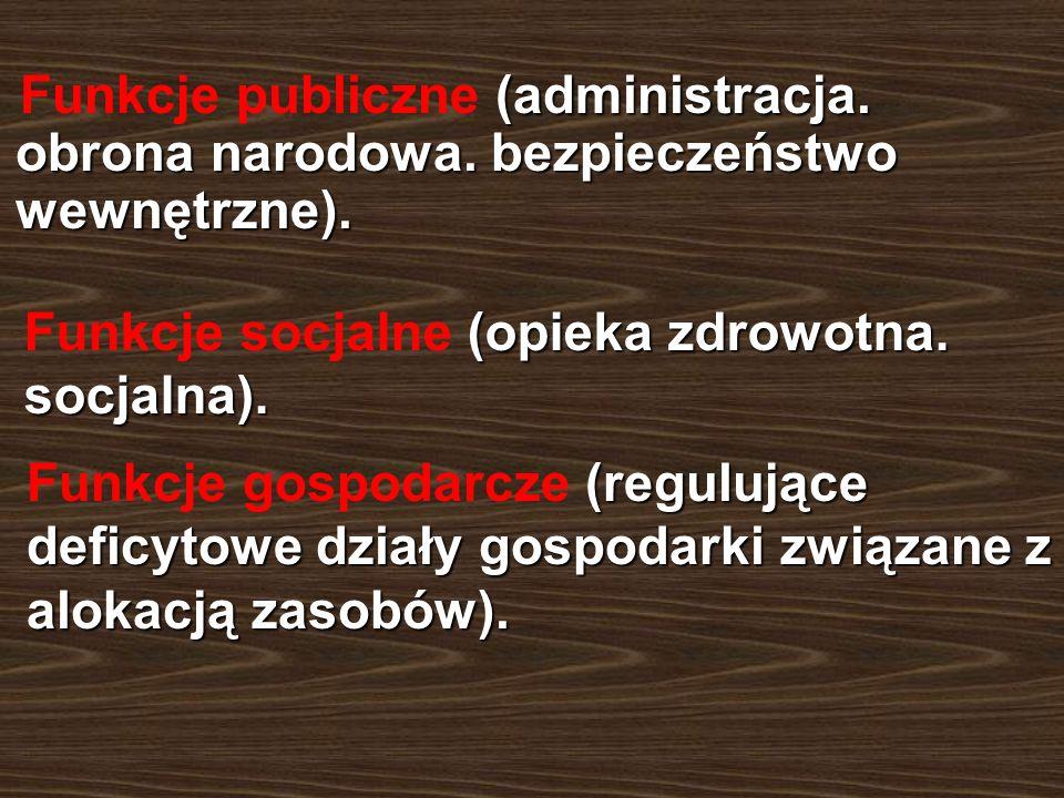 Funkcje publiczne (administracja. obrona narodowa