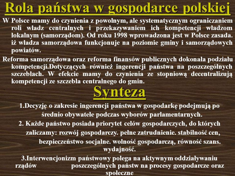 Rola państwa w gospodarce polskiej