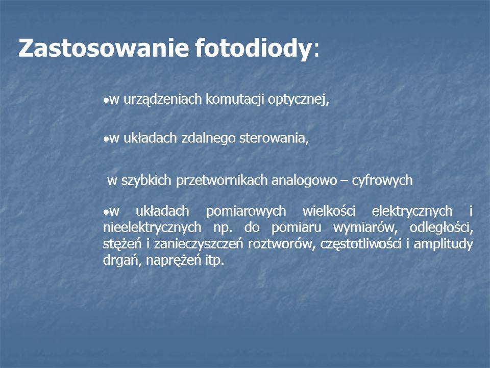 Zastosowanie fotodiody: