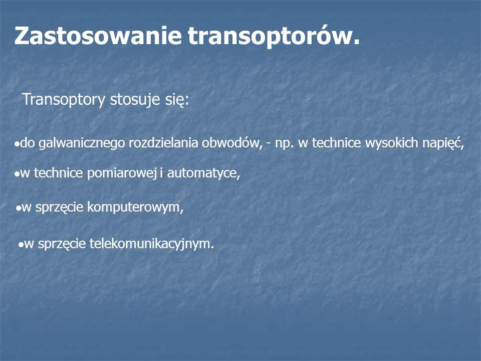 Zastosowanie transoptorów.