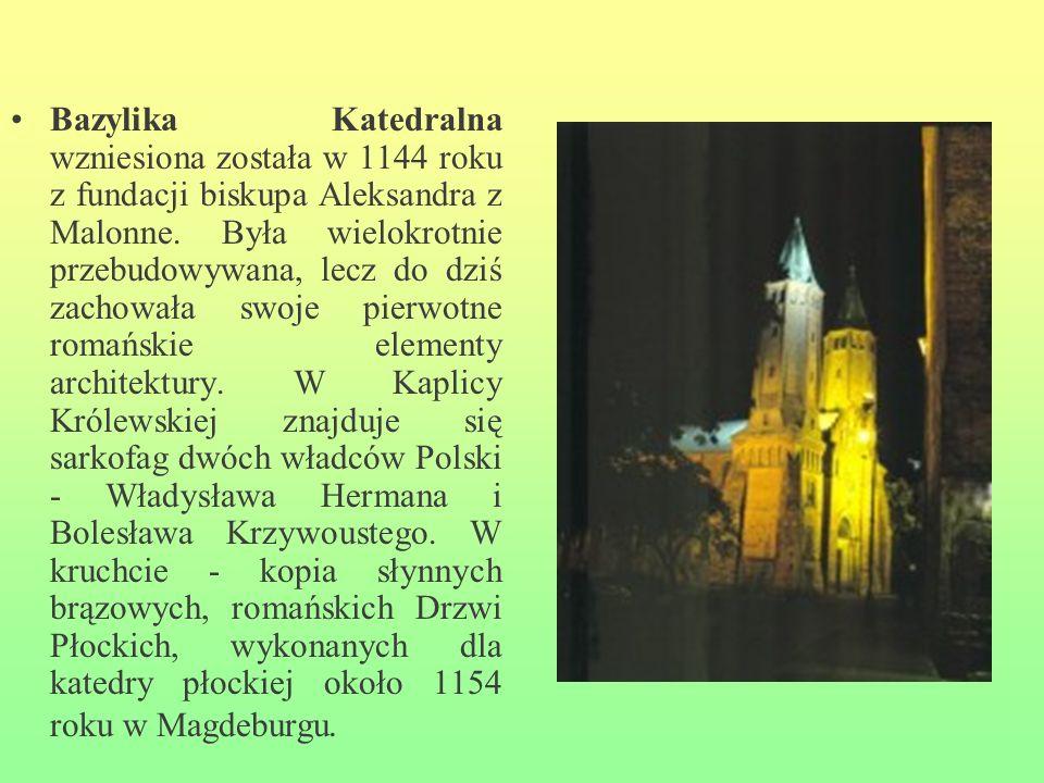 Bazylika Katedralna wzniesiona została w 1144 roku z fundacji biskupa Aleksandra z Malonne.