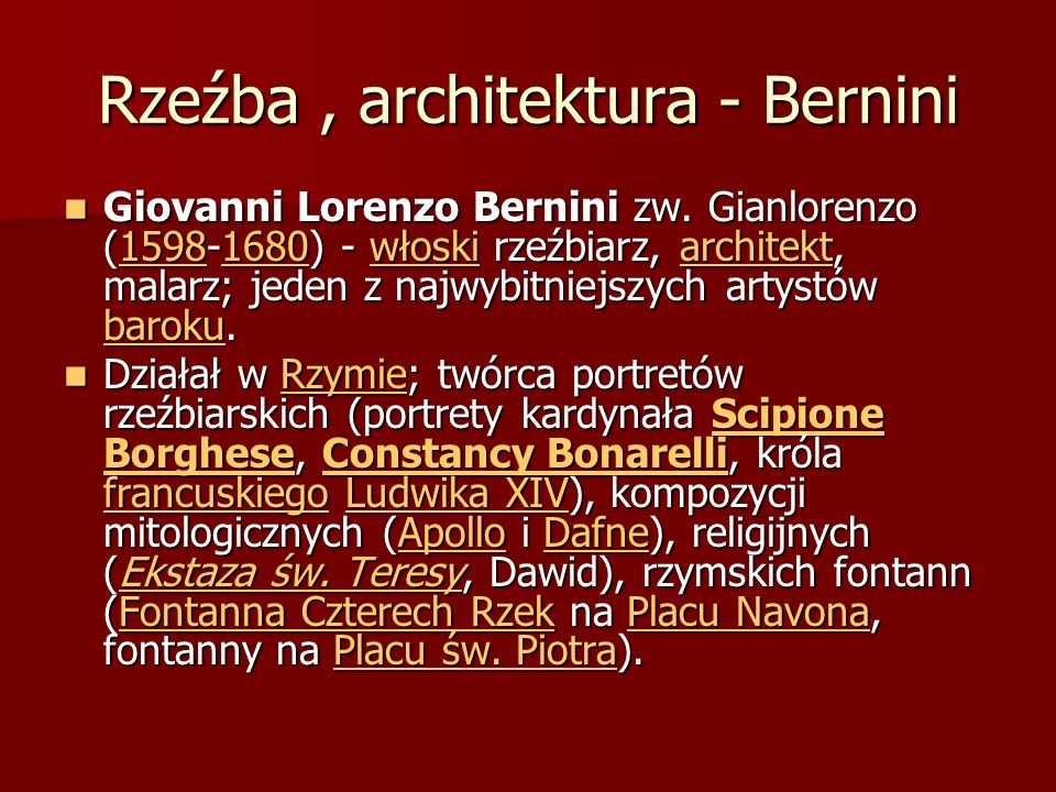 Rzeźba , architektura - Bernini